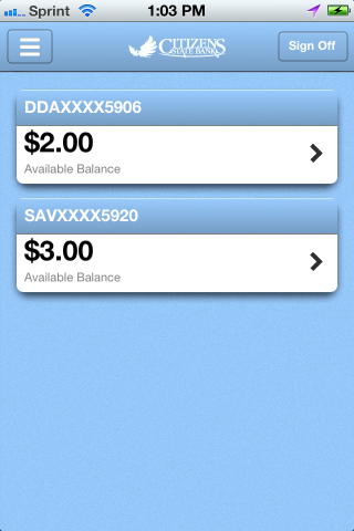 CitizensStateBank CSB Mobile - screenshot