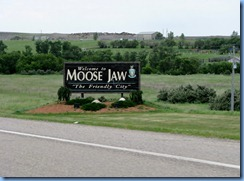 8502 Saskatchewan Trans-Canada Highway 1 Moose Jaw - Welcome sign