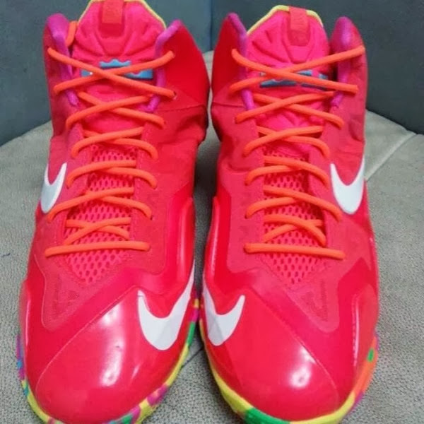 f59c6a7114283 Nike LeBron XI 11 GS 8220Fruity Pebbles8221 8211 First Look .