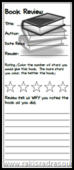 free student book review bookmarks