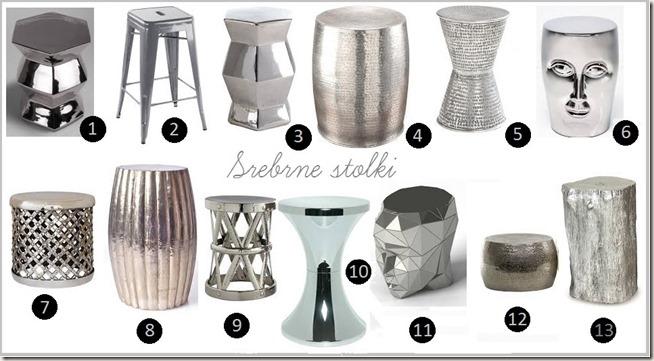 srebrne stolki