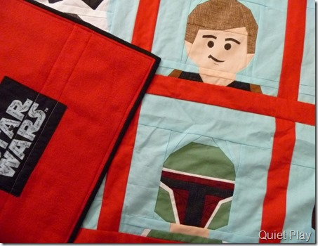 LEGO Star wars quilt with backing