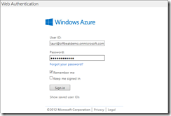 Windows Azure Active Directory Authentication: Setting up the