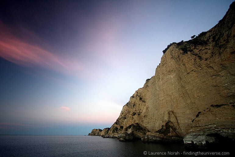 Tolaga Bay Cliffs at sunset