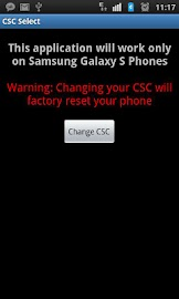 Samsung Galaxy S / S2 / S3 CSC Screenshot 1