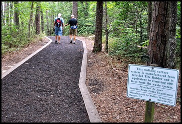 25g2 - North RimTrail towards the Dam - New trail material
