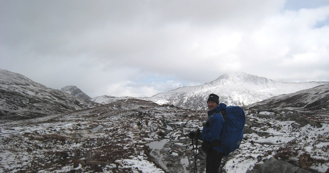 ANDY ENROUTE TO LAIRIG LEACACH