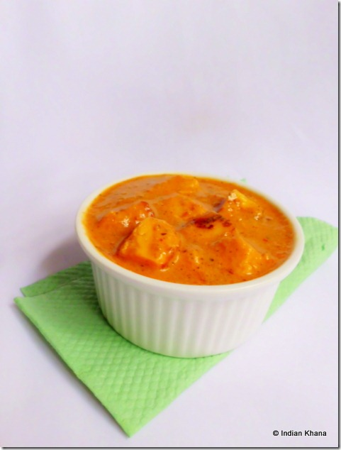 Paneer Butter Masala gravy at home recipe