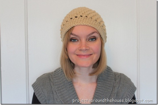 crochet puff stitch beanie pattern hat free