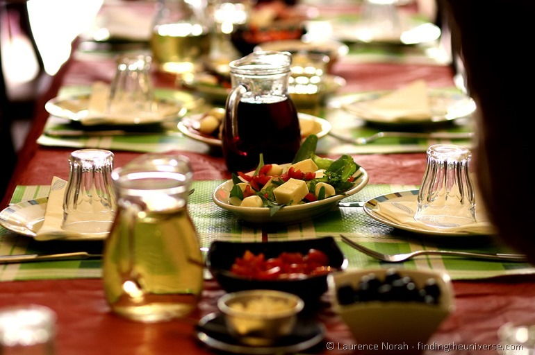 italian food table