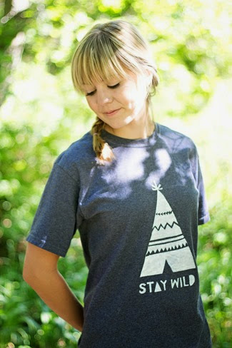 Stay Wild Teepee Shirt DIY