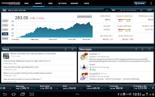 moneycontrol for Tablet- screenshot thumbnail