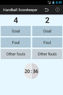 Handball Scorekeeper Lite - screenshot thumbnail