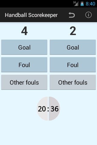 Handball Scorekeeper Lite - screenshot