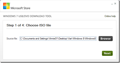 Indicare la ISO di Windows 8 Consumer Preview