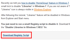 "How to Disable ""Libraries"" Feature in Windows 7    Tweaking with Vishal"