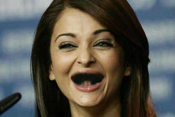 Funburp Funny Aishwarya Rai Missing Teeth