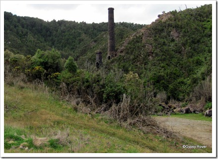 The last visible remnants of the Blackball mine.