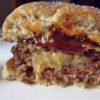 Easy Bacon, Onion and Cheese Stuffed Burgers.