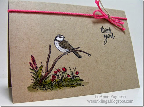 LeAnne Pugliese WeeInklings Moon Lake Chickadee Stampin Up