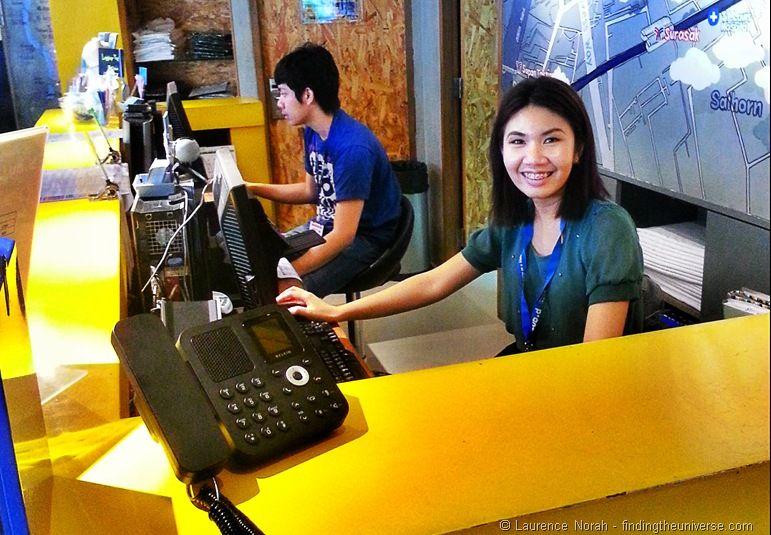Friendly reception staff at Lub d Silom