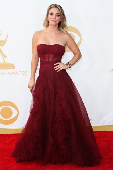 Kaley Cuoco attends the 65th Annual Primetime Emmy Awards