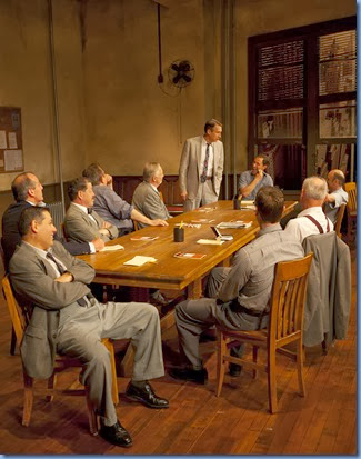 12 Angry Men GSP 046<br />Twelve Angry Men, By Reginald Rose, directed by David Saint<br />Scenic Design:R. Michael Miller<br />Costume Design: Esther Arroyo<br />Lighting Design: Christopher J. Bailey<br /><br />© T Charles Erickson<br />http://pa.photoshelter.com/c/tcharleserickson<br />tcepix@comcast.net