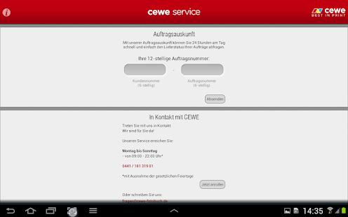 cewe service - screenshot thumbnail