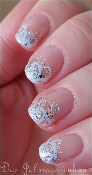 Schnee Winter Nageldesign 4