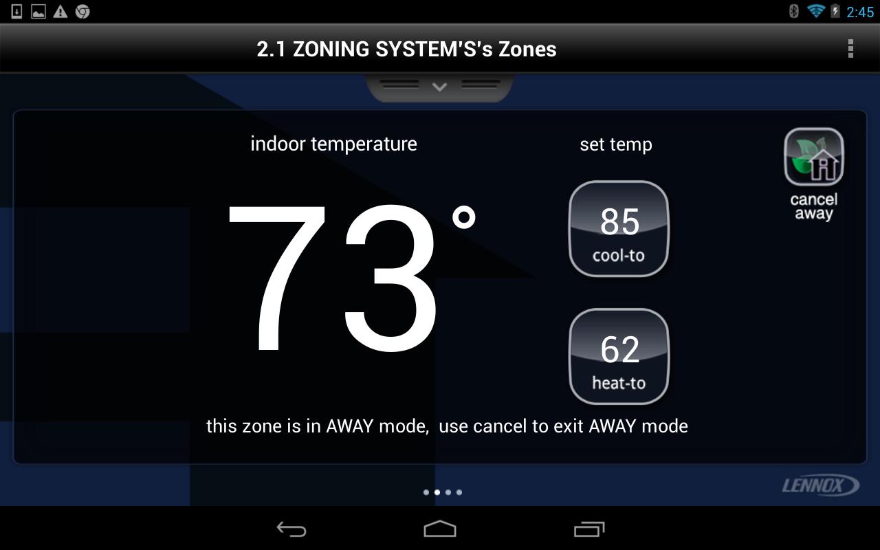 lennox icomfort e30 price. Lennox IComfort Wi-Fi Tablet- Screenshot Icomfort E30 Price