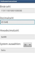 Screenshot of Stellenwertumrechner