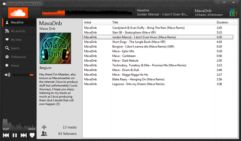 SoundCloud Desktop Player