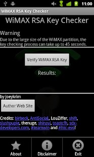 WiMAX Key Checker - screenshot thumbnail