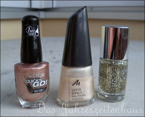 Silvester Nageldesign Champagner Nails