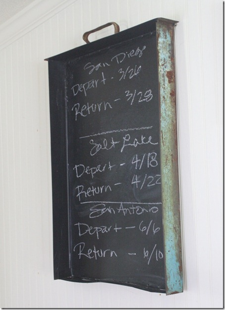industrial chalkboard drawer