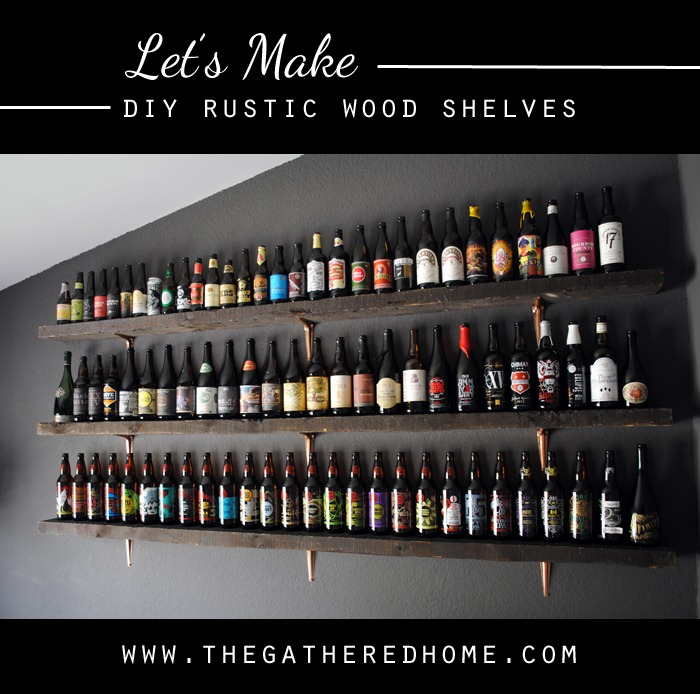 Let's Make DIY Rustic Wood Shelves
