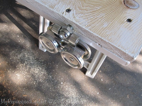Installing door Hardware (barn door) (3)