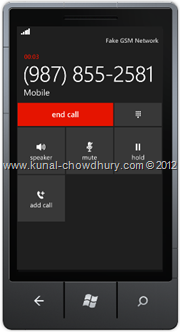 Screenshot 6 : How to Save Phone Number in WP7 using the SavePhoneNumberTask?