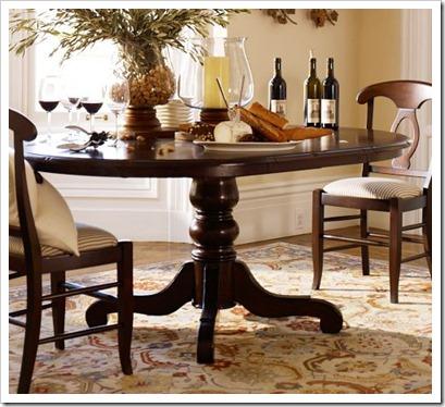 PB harvest Pedestal dining table