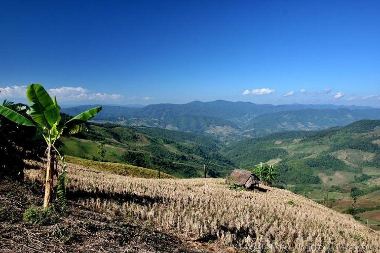 Shack on hillside Thailand
