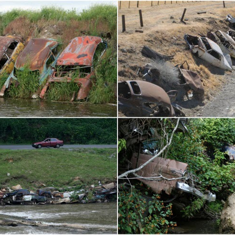 Detroit Riprap: Abandoned Cars as Erosion Control