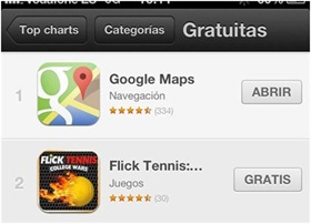 App Google Maps en iOS