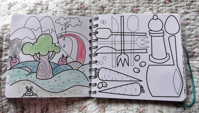 personal planner colouring pages, diary