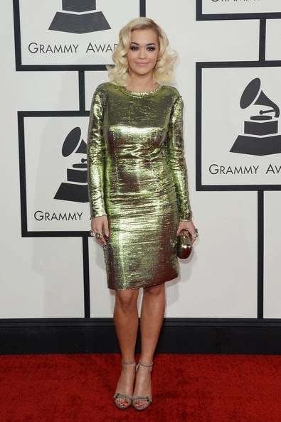 Rita Ora attends the 56th GRAMMY Awards