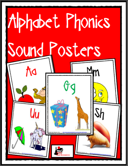 free phonics alphabet posters from Raki's Rad Resources