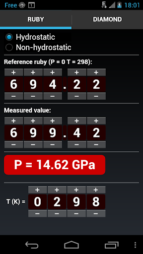 Ruby Pressure Calculator