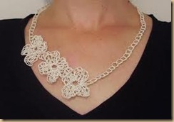 crochet necklace white