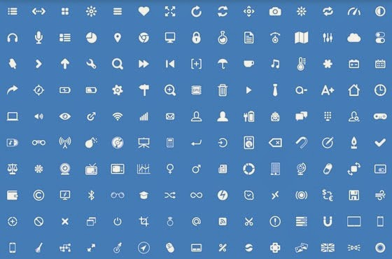 Set completo de 150 iconos para aplicaciones web, móviles, interfaces y dispositivos multimedia: glyphs.