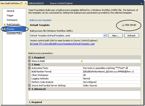 team foundation server process templates - alm team foundation server and more how to use new