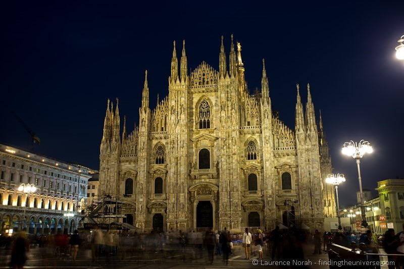 Milan duomo at night
